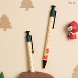 Red fox - Toffeenut cute black ballpoint pen 0.7mm