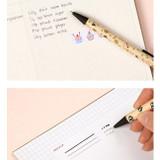 Monopoly Toffeenut cute black ballpoint pen 0.7mm