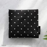 Black dot - Pattern secret daily cotton pouch
