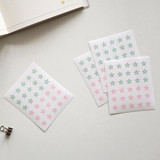 Star solid 2 - Transparent circle and star deco sticker set ver.3