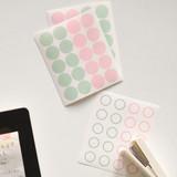 Solid 2/ line 2 - Transparent circle and star deco sticker set ver.3