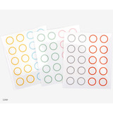 Line - Dailylike Transparent circle and star deco sticker set ver.3