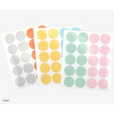 Solid - Dailylike Transparent circle and star deco sticker set ver.3