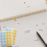 Dailylike Transparent circle and star deco sticker set ver.3