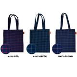 Color of Jam studio Daily check ecobag shoulder tote bag
