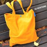 Mustard - Jam studio Cozy corduroy shoulder tote bag