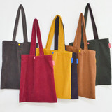 Jam studio Cozy corduroy shoulder tote bag