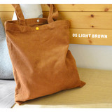 Light brown - Jam studio Cozy corduroy shoulder tote bag