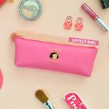Lovely girl - Jam studio Du-dum pom-pom zipper pencil case