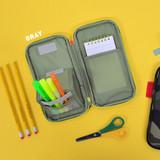 Gray - Jam studio Folding pencil case pocket pouch ver.4