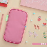 Pink - Jam studio Folding pencil case pocket pouch ver.4