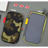 Camo / Gray - Folding pencil case pocket pouch ver.4