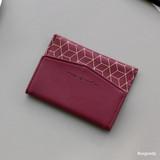 Burgundy - Iconic Pochette pattern card case pocket wallet