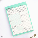 Mint - Schedule manager undated daily desk planner