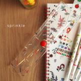 Sprinkle - N.IVY Valerie studio clear folding slim pencil case
