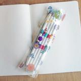 Violet - N.IVY Moon's friend clear folding slim pencil case