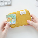 Mustard - A low hill basic standard pocket card case ver.2