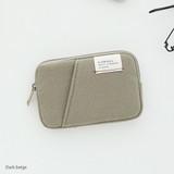 Dark beige - A low hill basic standard pocket card case ver.2