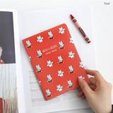 Paul - Romane illustration medium plain and lined notebook