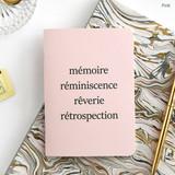 Pink - Romane illustration medium plain and lined notebook