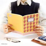 Yellow bear - illustration medium plain and lined notebook