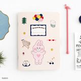 Rabbit - Romane illustration medium plain and lined notebook