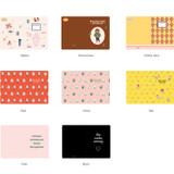 Option of Romane illustration medium plain and lined notebook
