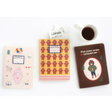 Romane illustration medium plain and lined notebook