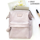 Gray lavender - Monopoly Cratte mini leather backpack