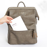 1 front pocket - Monopoly Cratte mini leather backpack