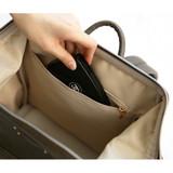 1 inside zipperd pocket - Monopoly Cratte mini leather backpack