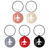 Color of Fenice Airplane enamel round travel luggage name tag