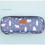 Swimming bear - Lovely pattern block pencil case pouch