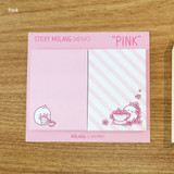 Pink - Molang nemo cute sticky memo note