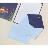 Starry night - Pattern illustration letter paper and envelope set