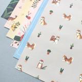 Pattern illustration letter paper and envelope set