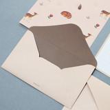 Baby dear - Pattern illustration letter paper and envelope set