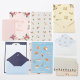 Pattern illustration letter paper and envelope set