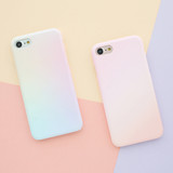 Aurora / Before sunset - Matte simple hard case for iPhone 7