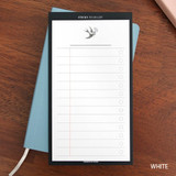 White - Simple to do list sticky notepad