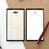 Simple to do list sticky notepad