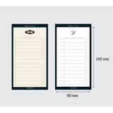 Size of Simple to do list sticky notepad