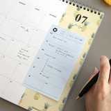 Blue - Simple sticky weekly planner