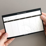 White - Simple sticky weekly planner