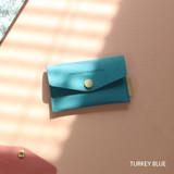 Turkey blue - Wanna be chamude flat pocket card case
