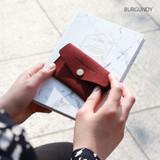 Burgundy - Wanna be chamude flat pocket card case
