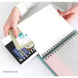 Paper envelope - Prism spiral slip in pocket ticket album