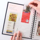Use example of Prism spiral slip in pocket ticket album