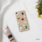 Beige - Ghostpop polycarbonate phone case for iPhone 7