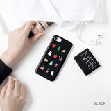 Black - Ghostpop polycarbonate phone case for iPhone 7